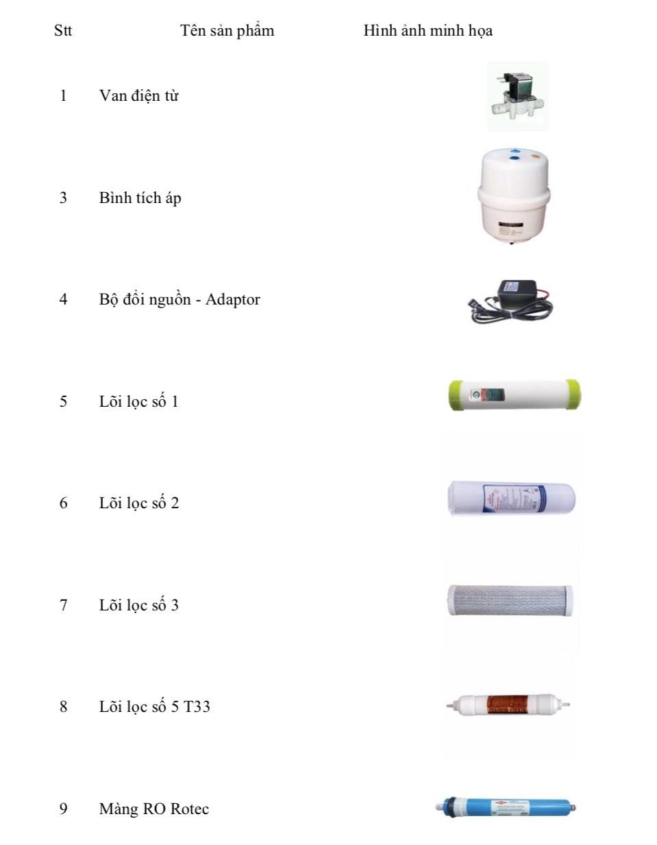 linh kiện máy lọc nước 1